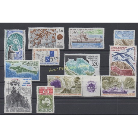 Stamps - French Southern and Antarctic Territories - Complete year - 1991 - Nb 155/162 et PA115/PA118