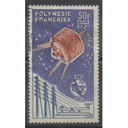 Polynésie - Poste aérienne - 1965 - No PA10 - Télécommunications - Oblitéré