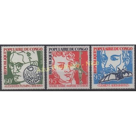 Congo (République du) - 1975 - No 405/407 - Célébrités
