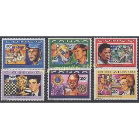 Congo (République du) - 1991 - No 923/928 - Célébrités