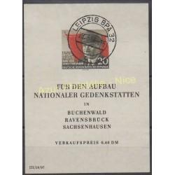 Allemagne orientale (RDA) - 1956 - No BF 8 - Célébrités - Oblitéré