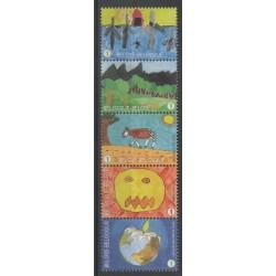 Belgique - 2010 - No 3995/3999 - Dessins d'enfants - Environnement