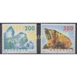 Suisse - 2002 - No 1732/1733 - Minéraux - pierres précieuses