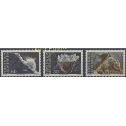 Liechtenstein - 1994 - Nb 1034/1036 - Minerals - gems