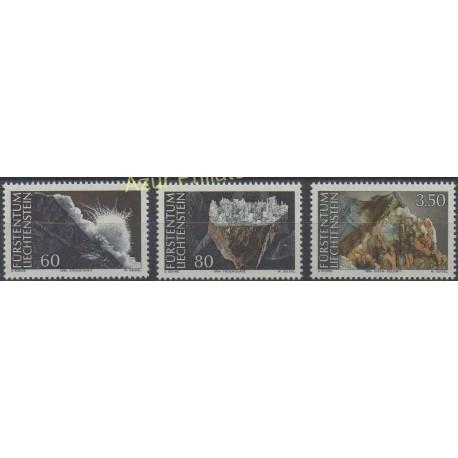 Liechtenstein - 1994 - No 1034/1036 - Minéraux - pierres précieuses