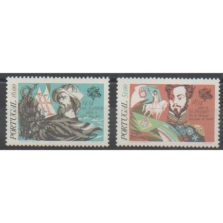 Portugal - 1984 - Nb 1620/1621 - Celebrities - Various Historics Themes