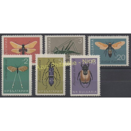 Bulgaria - 1964 - Nb 1247/1252 - Insects