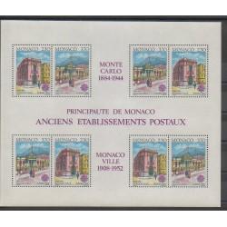 Monaco - Blocs et feuillets - 1990 - No BF49 - Service postal - Europa