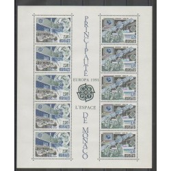 Monaco - Blocks and sheets - 1991 - Nb BF52 - Space - Europa