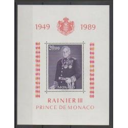 Monaco - Blocs et feuillets - 1989 - No BF45 - Royauté - Principauté