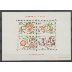 Monaco - Blocks and sheets - 1989 - Nb BF44 - Fruits