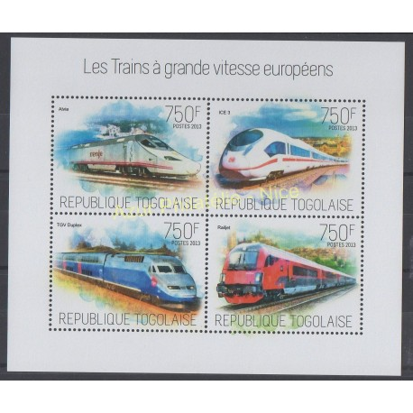 Stamps - Theme trains - Togo - 2013 - Nb 3553/3556