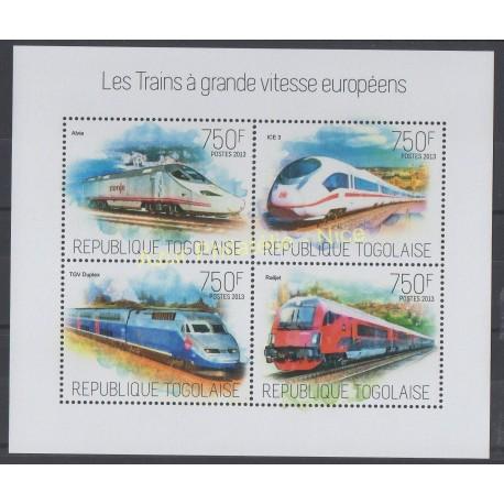Timbres - Thème trains - Togo - 2013 - No 3553/3556