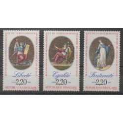 France - Poste - 1989 - No 2573/2575 - Révolution Française - Droits de l'Homme