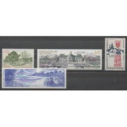 France - Poste - 1989 - No 2586/2588 - 2601 - Châteaux