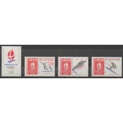France - Poste - 1990 - No 2632/2633 - 2674/2675 - Jeux olympiques d'hiver