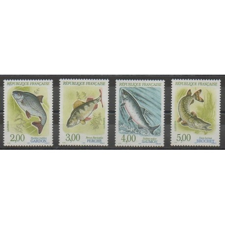 France - Poste - 1990 - No 2663/2666 - Animaux marins