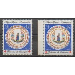 France - Poste - 1990 - No 2646/2646a - Artisanat - Santé ou Croix-Rouge