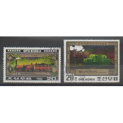 North Korea - 1980 - Nb 1630A/1630B - Trains - Used