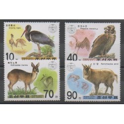North Korea - 2001 - Nb 3117/3120 - Birds - Mamals