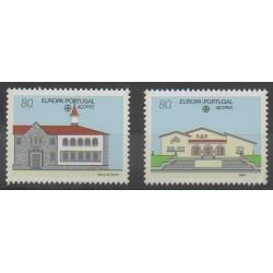 Portugal (Açores) - 1990 - No 399/400 - Service postal - Europa