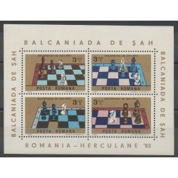 Roumanie - 1984 - No BF165 - Échecs