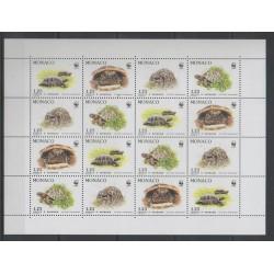 Monaco - 1991 - No F1805 - Reptiles - Espèces menacées - WWF