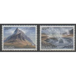 Islande - 1989 - No 657/658 - Sites
