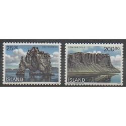 Islande - 1990 - No 684/685 - Sites