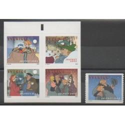 Suède - 2002 - No 2308/2312 - Noël - Dessins Animés - BD