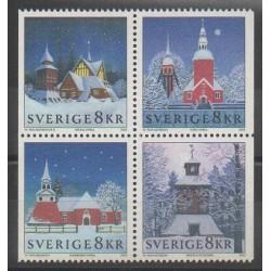 Suède - 2002 - No 2304/2307 - Noël - Églises