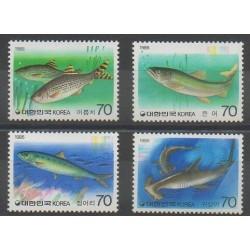 Corée du Sud - 1986 - No 1314/1317 - Animaux marins