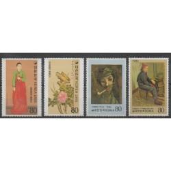 Corée du Sud - 1986 - No 1337/1340 - Peinture
