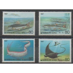 Corée du Sud - 1987 - No 1374/1377 - Animaux marins
