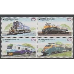 Corée du Sud - 2001 - No 1977/1980 - Chemins de fer