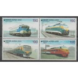 Corée du Sud - 2002 - No 2036/2039 - Chemins de fer