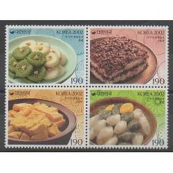 South Korea - 2002 - Nb 2054/2057 - Gastronomy