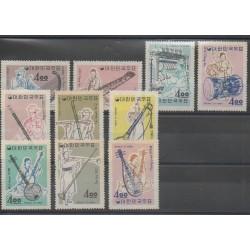 Corée du Sud - 1963 - No 320/329 - Musique