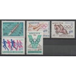 Corée du Sud - 1964 - No 354/358 - Jeux Olympiques d'été