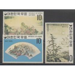 Corée du Sud - 1970 - No 598/600 - Peinture