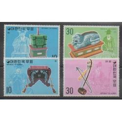 Corée du Sud - 1974 - No 785/786 - 800/801 - Musique