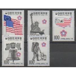 Corée du Sud - 1976 - No 906/910 - Histoire