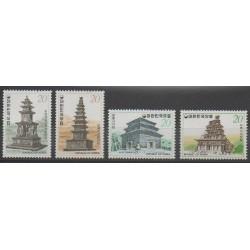Corée du Sud - 1978 - No 980/981 - 986/987 - Monuments