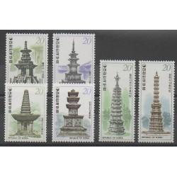 Corée du Sud - 1978 - No 989/992 - 1005/1006 - Monuments