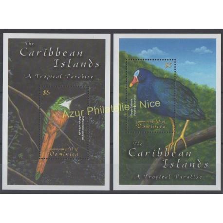 Dominique - 2001 - No BF 433/434 - Oiseaux