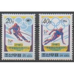 North Korea - 1998 - Nb 2742/2743 - Winter Olympics