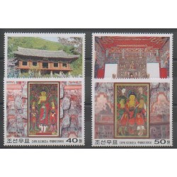 Corée du Nord - 2003 - No 3248/3251 - Religion