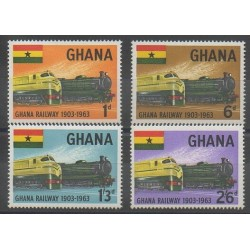 Ghana - 1963 - No 148/151 - Chemins de fer