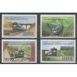 Zambia - 1986 - Nb 364/367 - Trains