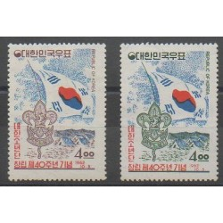 Corée du Sud - 1962 - No 285/286 - Scoutisme